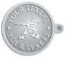 Ace Recognition Pewter KeyTag - with your text and logo - paint balls, paint guns, paint, paintball, paintballer, paintballing, fun, game, gun, hit, hobby, recreation, sports