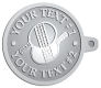 Ace Recognition Pewter KeyTag - with your text and logo - ping pong, paddles, table tennis