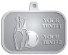 Ace Recognition Pewter KeyTag, Medal, Pendant - with your text and logo - bowling, bowling pins, bowling balls, bowling-ball, games,  kingpin, lane, leisure, pins, sport