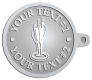Ace Recognition Pewter KeyTag - with your text and logo - darts, archery, arrows, bullseye, fun, games, success, targets, triumph, win, leisure, luck, mark, success, target, triumph, win