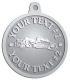 Ace Recognition Pewter KeyTag, Medal, Pendant - with your text and logo - road grader, mining equipment, grader, heavy equipment, earthmovers, earth movers