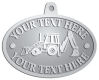 Ace Recognition Pewter KeyTag, Medal, Pendant - with your text and logo - front loaders, excavators, back hoes, backhoes, loaders, trenchers, excavators, excavating, equipment, diggers