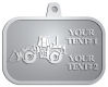 Ace Recognition Pewter KeyTag, Medal, Pendant - with your text and logo - bobcats, construction, industrial, machine, machinery