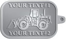 Ace Recognition Pewter KeyTag - with your text and logo - bobcats, construction, industrial, machine, machinery