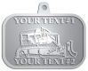 Ace Recognition Pewter KeyTag, Medal, Pendant - with your text and logo - bulldozer, constructions, dozer, earth, equipment, heavy, machine, mover, soil, tracks