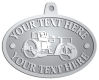 Ace Recognition Pewter KeyTag, Medal, Pendant - with your text and logo - asphalt paving machine, paver, roller, machinery, equipment, heavy, steam rollers, steamrollers, drum compactors