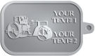 Ace Recognition Pewter KeyTag - with your text and logo - asphalt paving machine, paver, roller, machinery, equipment, heavy, steam rollers, steamrollers, drum compactors