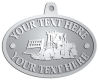 Ace Recognition Pewter KeyTag, Medal, Pendant - with your text and logo - bulldozers, machinery, equipment, heavy