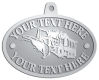 Ace Recognition Pewter KeyTag, Medal, Pendant - with your text and logo - snow plows, plows, snow removal, road equipment, heavy equipment