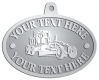 Ace Recognition Pewter KeyTag, Medal, Pendant - with your text and logo - graders, machinery, road equipment, heavy equipment, highway maintenance