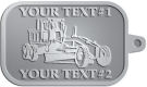 Ace Recognition Pewter KeyTag - with your text and logo - graders, machinery, road equipment, heavy equipment, highway maintenance