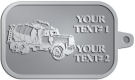 Ace Recognition Pewter KeyTag - with your text and logo - cement truck, concrete, construction, heavy equipment, road construction, home renovation