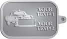 Ace Recognition Pewter KeyTag - with your text and logo - snow removal, truck, plow, pick up, pick-up, snow plow