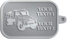 Ace Recognition Pewter KeyTag - with your text and logo - dump truck, road construction, machinery, heavy equipment, transportation