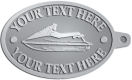 Ace Recognition Pewter KeyTag - with your text and logo - boats, watercraft, water craft, speed boats, pleasure boats, pleasure craft