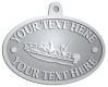 Ace Recognition Pewter KeyTag, Medal, Pendant - with your text and logo - boats, watercraft, water craft, fishing boats, fishing, pleasure boats, pleasure craft