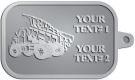 Ace Recognition Pewter KeyTag - with your text and logo - dump trucks, standard dump trucks, trucks, construction vehicles, dumper, tip trucks, tipper lorry, tipper trucks, tippers, tipper lorries, transportation