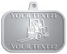 Ace Recognition Pewter KeyTag, Medal, Pendant - with your text and logo - forklifts, fork lifts, reach trucks, lift trucks, hoist trucks, industrial vehicles
