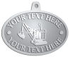 Ace Recognition Pewter KeyTag, Medal, Pendant - with your text and logo - diggers, excavators, excavation, excavation equipment, excavation machines, excavation machinery, digger tractors, crawler excavators