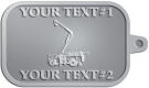 Ace Recognition Pewter KeyTag - with your text and logo - service trucks, crane trucks, aerial equipment, bucket trucks, utility equipment, bucket cranes, booms, telescopic booms