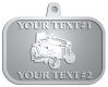 Ace Recognition Pewter KeyTag, Medal, Pendant - with your text and logo - lawn tractors, riding mowers, garden tractors, lawn mowers