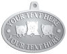 Ace Recognition Pewter KeyTag, Medal, Pendant - with your text and logo - cats, kittens, felines, pets