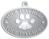 Ace Recognition Pewter KeyTag, Medal, Pendant - with your text and logo - abstract, animals, art, foot, foot-mark, footprints pattern, paws, pawprints, pets, prints, zoo