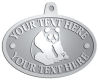 Ace Recognition Pewter KeyTag, Medal, Pendant - with your text and logo - ailuropoda, panda bears, bears, animals, china, chinese, cubs, giant, nature, small, wild, wildlife, asia, asian, bamboo, china chinese, melanoleuca, oriental, , zoo, zoology
