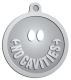 Ace Recognition Pewter KeyTag, Medal, Pendant - with your text and logo - denistry, dentist, no cavities, denistry awards
