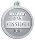 Ace Recognition Pewter KeyTag, Medal, Pendant - with your text and logo - recovery, recovery celebration, recovery milestones, motivational