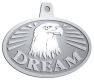 Ace Recognition Pewter KeyTag, Medal, Pendant - with your text and logo - eagles, bird of prey, patriotic, inspirational, strength, symbol, democracy, United States, USA, bald eagle, navy
