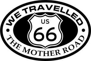 Custom pewter or zinc Crest - customized and personalized your way - Route 66 - US 66 - historic - the mother road, route 66, route sixty six, route sixty-six, historic highway, historic road, mother road, metal