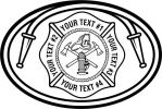 Fire Department, Maltese Cross  Hose, Axe, Fire Hydrant, Helmet