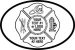 Fire Fighter, Maltese Cross  Ladder, Helmet, Fire Hydrant