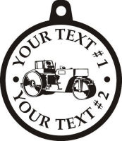 Custom pewter or zinc Pendant - customized and personalized your way - asphalt paving machine, paver, roller, machinery, equipment, heavy, steam rollers, steamrollers, drum compactors