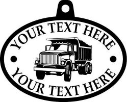 Custom pewter or zinc Pendant - customized and personalized your way - dump trucks, standard dump trucks, trucks, construction vehicles, dumper, tip trucks, tipper lorry, tipper trucks, tippers, tipper lorries, transportation