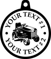 Custom pewter or zinc Pendant - customized and personalized your way - lawn tractors, riding mowers, garden tractors, lawn mowers