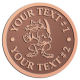 Ace Recognition Copper Buckle - with your text and logo - Sports, mascots, sports, animals, foxes, teams, high school, college, university