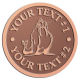 Ace Recognition Copper Buckle - with your text and logo - Sports, mascots, sports, walrus, sea creatures, teams, high school, college, university