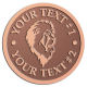 Ace Recognition Copper Buckle - with your text and logo - Sports, mascots, lions, cats, high school, college, university