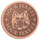 Ace Recognition Copper Buckle - with your text and logo - Sports, mascots, sports, animals, dogs, canines, teams, high school, college, university