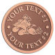 Ace Recognition Copper Buckle - with your text and logo - all terrain vehicles, atv, atvs, off road, off-road, 4-wheeler, atv, bike,drive, fast, four, machine, motocross, off-road, power, powerful, quad, race, red, ride, road, sky, sport, tires, tool, traction, trail, transport, transportation, wheel