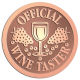 Ace Recognition Copper Buckle - with your text and logo - Winery, sommelier, wine glasses, grapes, alcohol, beverages, celebrations, cellars, classical, corks, drinks, food, fruit, goblets, grapes, grapevines, restaurant, romantic, tavern, vintage, vine, wine tasting, wine-testers, wine testers