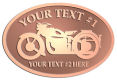 Ace Recognition Copper Buckle - with your text and logo - Motorcycle Designs - motorcycle - your text,   chopper, motorcycles, motor bikes, racing, motor, motorsports, motor-sports, transportation, metal