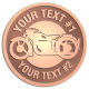 Ace Recognition Copper Buckle - with your text and logo - Motorcycle Designs - motorcycle -   chopper, bike - your text, transportation, metal