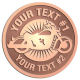 Ace Recognition Copper Buckle - with your text and logo - Motorcycle Designs - motorcycle - bike - your text, transportation, metal  chopper,