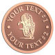 Ace Recognition Copper Buckle - with your text and logo - Sports, mascots, sports, tigers, teams, high school, college, university