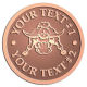 Ace Recognition Copper Buckle - with your text and logo - Sports, mascots, sports, animals, longhorns, bulls, teams, high school, college, university