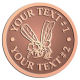 Ace Recognition Copper Buckle - with your text and logo - Sports, mascots, insects, flies, bees, wasps, high school, college, university