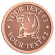 Ace Recognition Copper Buckle - with your text and logo - Sports, mascots, bears, grizzlies, high school, college, university